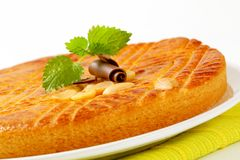 Dutch Butter Cake (Boterkoek) Stock Photo