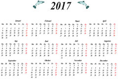 Dutch calendar Royalty Free Stock Photography