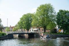Dutch canal Haarlem Royalty Free Stock Photo