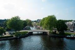 Dutch canal Haarlem Stock Photo