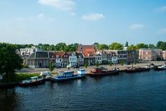 Dutch canal Haarlem Stock Photos
