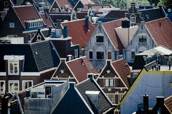 Dutch canal house roofs Stock Photography