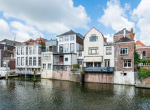 Dutch canal houses Royalty Free Stock Image
