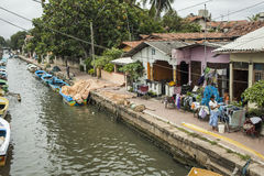 Dutch canal in Negombo Stock Photography