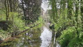Dutch canal in park. Dutch canal in a park near Utrecht stock footage