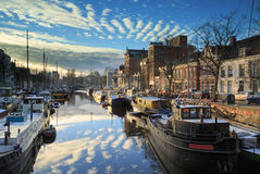 Dutch canal Royalty Free Stock Photos
