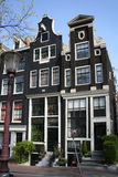 Dutch canalhouses. Typical dutch  Amsterdam canal houses Stock Image