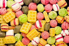 Dutch candy. Frame filling shot of colorful dutch candy Stock Photo