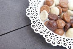 Dutch candy chocolate pepernoten Royalty Free Stock Image