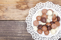 Dutch candy chocolate pepernoten Royalty Free Stock Photography