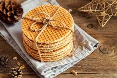 Dutch caramel waffles Royalty Free Stock Image