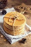 Dutch caramel waffles Stock Image