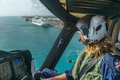 The Dutch Caribbean Coastguard - female pilot Royalty Free Stock Photos
