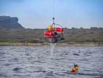 The Dutch Caribbean Coastguard - using a swim cage Stock Photo