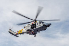 The Dutch Caribbean Coastguard - winching in Stock Image