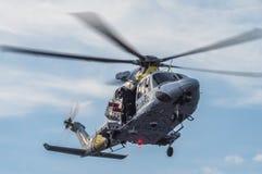 The Dutch Caribbean Coastguard - winchman Stock Images