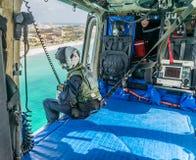 The Dutch Caribbean Coastguard - winchman Stock Image