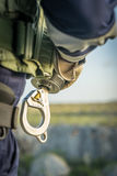 The Dutch Caribbean Coastguard - winchman hook Royalty Free Stock Photography