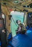 The Dutch Caribbean Coastguard - winchman hook Royalty Free Stock Photo