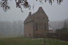 Dutch castle in the background stock photo