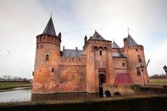 Dutch castle on the lake Stock Photo