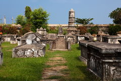 Dutch cemetery of cochin Royalty Free Stock Photos