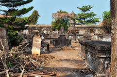 Dutch cemetery in Fort Kochi Stock Image