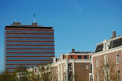 Dutch central bank. The dutch central bank with some houses Royalty Free Stock Image