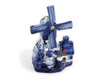 Dutch ceramic wildmill Stock Images