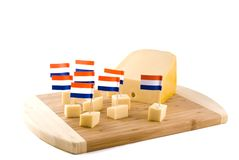 Dutch cheese-cubes Stock Photography