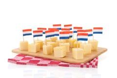 Dutch cheese cubes Stock Photos