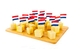 Dutch cheese cubes Stock Images