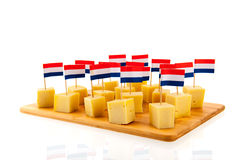 Dutch cheese cubes Royalty Free Stock Image