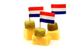 Dutch cheese snacks Stock Photos