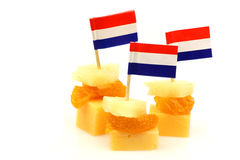 Dutch cheese snacks Stock Photography
