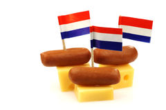 Dutch cheese snacks Stock Image