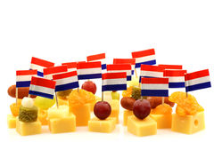 Dutch cheese snacks Stock Images