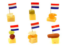 Dutch cheese snacks Royalty Free Stock Photo