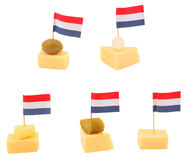 Dutch cheese snacks Stock Photography