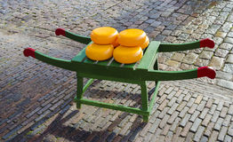 Dutch cheese wheels Royalty Free Stock Photography