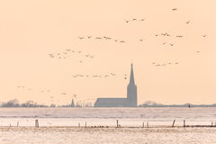 Dutch church in winter Stock Photography