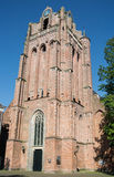 Dutch churchtower in Wijk bij Duurstede Royalty Free Stock Photography