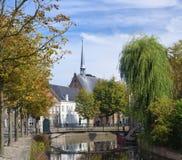 Dutch city center Royalty Free Stock Image