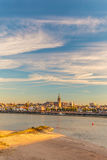 The Dutch city of Nijmegen with the river Waal in front Royalty Free Stock Image