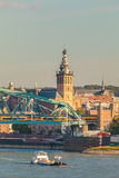 The Dutch city of Nijmegen with the river Waal in front Royalty Free Stock Images