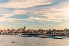 The Dutch city of Nijmegen during sunset Royalty Free Stock Photography