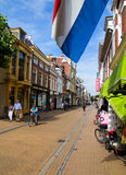 Dutch city street Royalty Free Stock Images