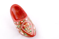 Dutch cloggs. Traditional red wooden Dutch cloggs Royalty Free Stock Photography