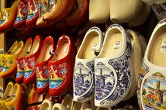 Dutch clogs. Clog factory, Zaanse Saans, Netherlands. Dutch traditional craft Royalty Free Stock Photography