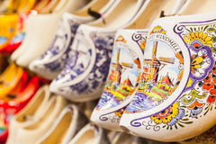 Dutch clogs made of poplar wood Royalty Free Stock Photography